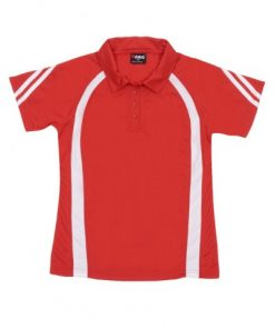 Women's Cool Sports Polo - 8, Red/White