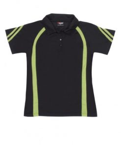 Women's Cool Best Polo - 8, Black/Lime