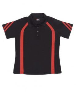 Women's Cool Best Polo - 8, Black/Red