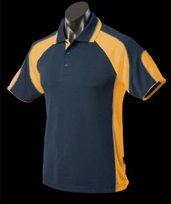Men's Murray Polo - 3XL, Navy/Gold/Ashe