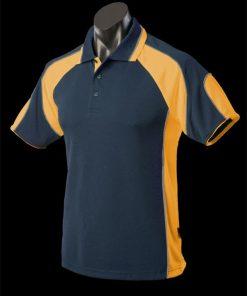 Men's Murray Polo - L, Navy/Gold/Ashe