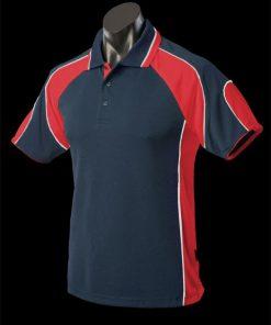 Men's Murray Polo - L, Navy/Red/White