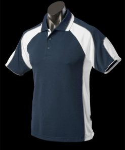 Men's Murray Polo - M, Navy/White/Ashe