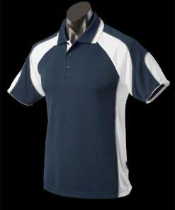 Men's Murray Polo - L, Navy/White/Ashe