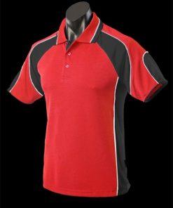 Men's Murray Polo - S, Red/Black/White