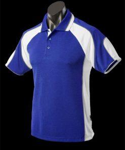 Men's Murray Polo - S, Royal/White/Ashe
