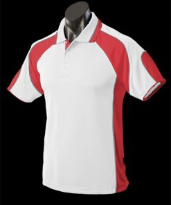 Men's Murray Polo - 5XL, White/Red/Ashe