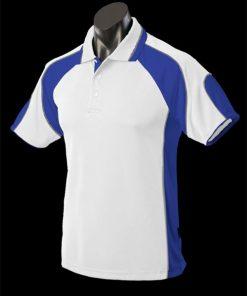 Men's Murray Polo - 5XL, White/Royal/Ashe