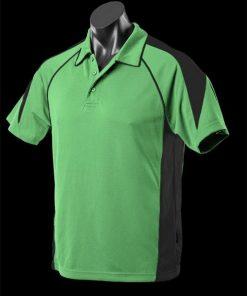 Men's Premier Polo - 5XL, Apple/Black