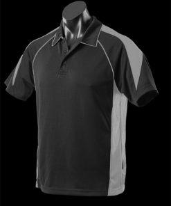 Men's Premier Polo - L, Black/Ashe