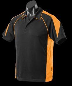 Men's Premier Polo - L, Black/Gold