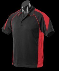 Men's Premier Polo - 2XL, Black/Red