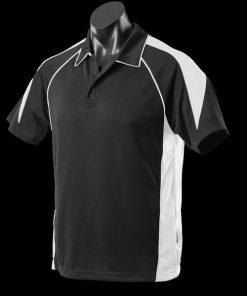 Men's Premier Polo - L, Black/White