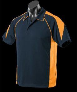 Men's Premier Polo - XL, Navy/Gold