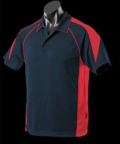 Men's Premier Polo - M, Navy/Red