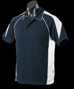 Men's Premier Polo - L, Navy/White