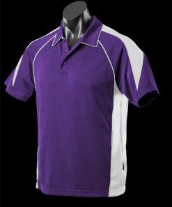 Men's Premier Polo - XL, Purple/White