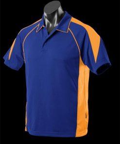 Men's Premier Polo - XL, Royal/Gold