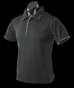 Men's Yarra Polo - S, Black/White