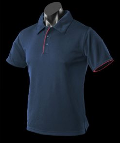 Men's Yarra Polo - L, Navy/Red