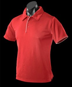 Men's Yarra Polo - M, Red/White