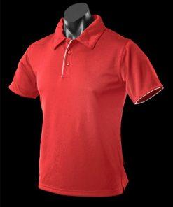 Men's Yarra Polo - XS, Red/White