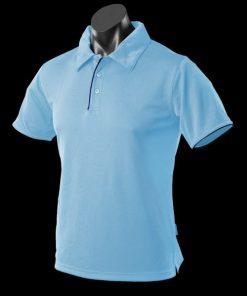 Men's Yarra Polo - XL, Sky/Navy