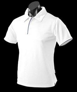 Men's Yarra Polo - L, White/Navy