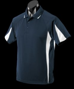 Men's Eureka Polo - M, Navy/White/Ashe