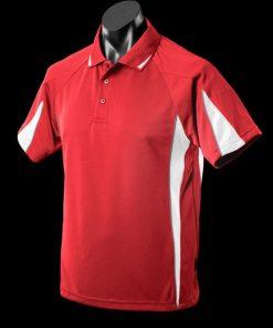 Men's Eureka Polo - M, Red/White/Ashe