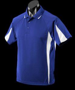 Men's Eureka Polo - XL, Royal/White/Ashe