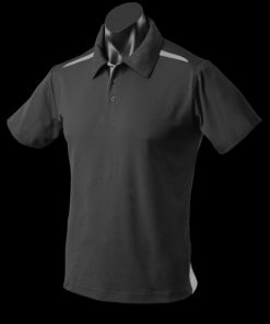 Men's Paterson Polo - M, Black/Ashe