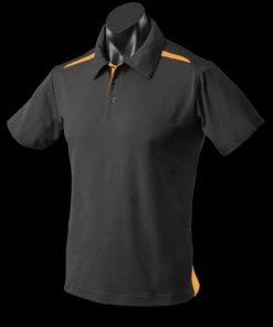 Men's Paterson Polo - XL, Black/Gold