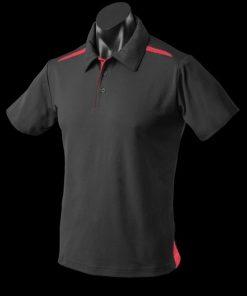 Men's Paterson Polo - 5XL, Black/Red