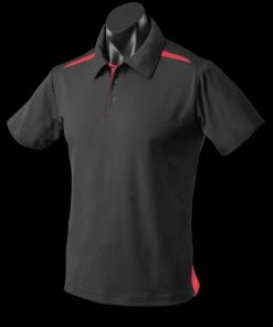 Men's Paterson Polo - L, Black/Red