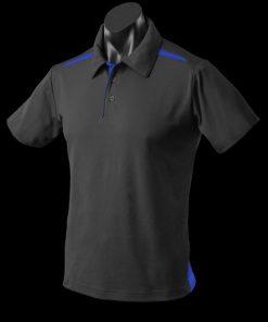 Men's Paterson Polo - 5XL, Black/Royal