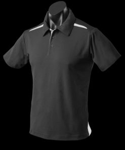 Men's Paterson Polo - L, Black/White