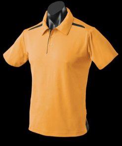 Men's Paterson Polo - 3XL, Gold/Black