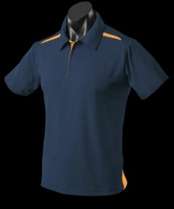 Men's Paterson Polo - S, Navy/Gold