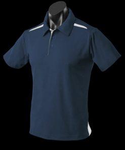 Men's Paterson Polo - L, Navy/White
