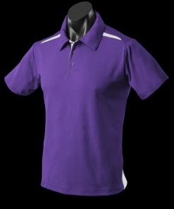 Men's Paterson Polo - M, Purple/White