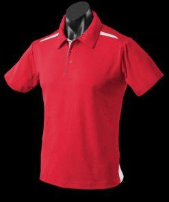 Men's Paterson Polo - M, Red/White