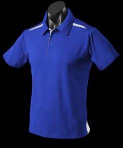 Men's Paterson Polo - XL, Royal/White