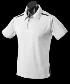 Men's Paterson Polo - S, White/Black