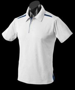 Men's Paterson Polo - M, White/Navy