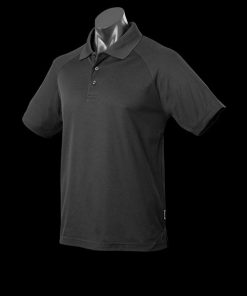 Men's Keira Polo - 5XL, Black