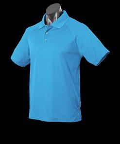 Men's Keira Polo - L, Pacific Blue