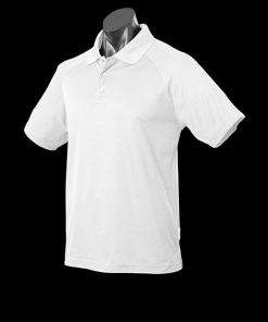 Men's Keira Polo - S, White