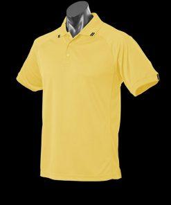 Men's Flinders Polo - XL, Canary/Black