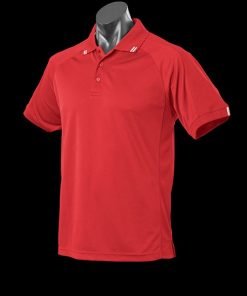 Men's Flinders Polo - XL, Red/White